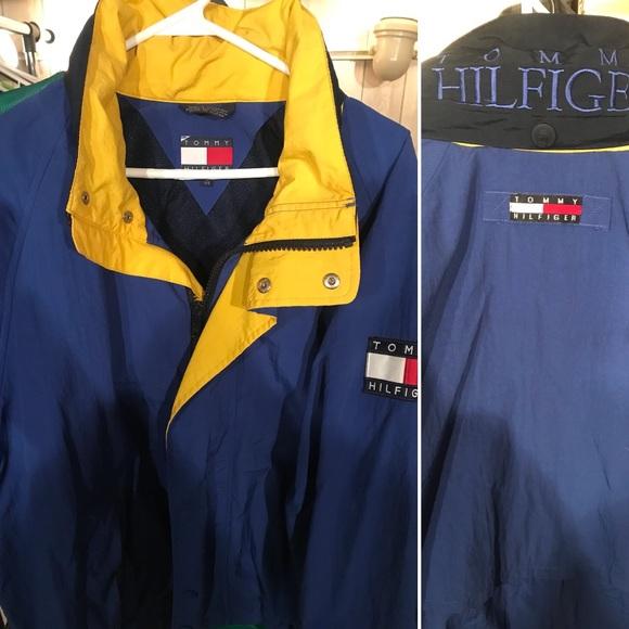 6ddebb7da Tommy Hilfiger Jackets & Coats | Vintage 90s Blue And Yellow Jacket ...